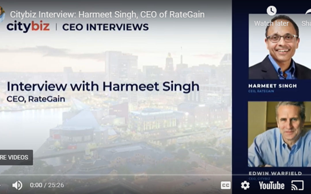 Citybiz Interview with Harmeet Singh, CEO at RateGain